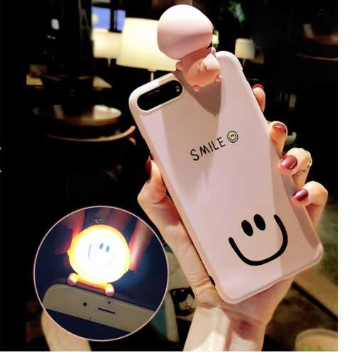 自撮りライト付かわいいiPhoneケース   iPhone6 i...