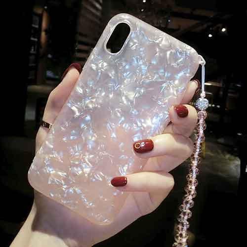 きらきらストラップ付iPhoneケース   iPhone6 iPh...