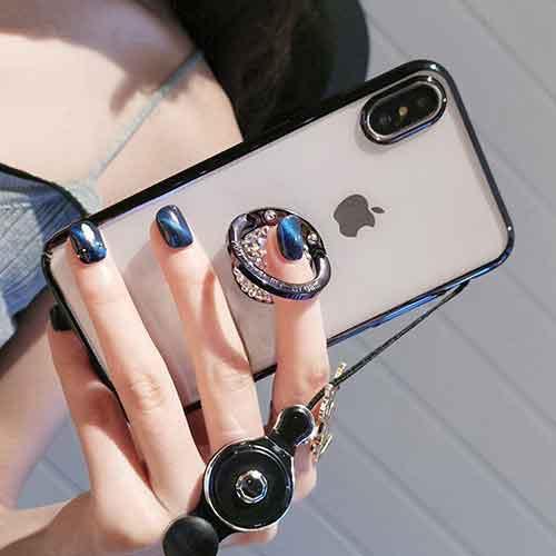 クリアケース&リングシンプルキレイなiPhoneケー...