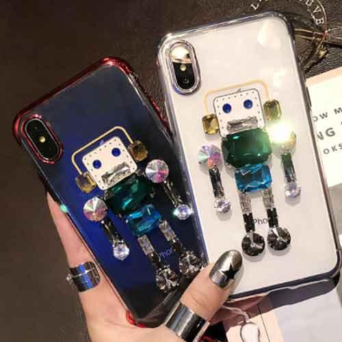 ビジューのかわいいロボットiPhoneケース   iPhon...