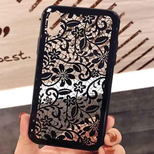 透かしレース調キレイなiPhoneケース   iPhone6 i...