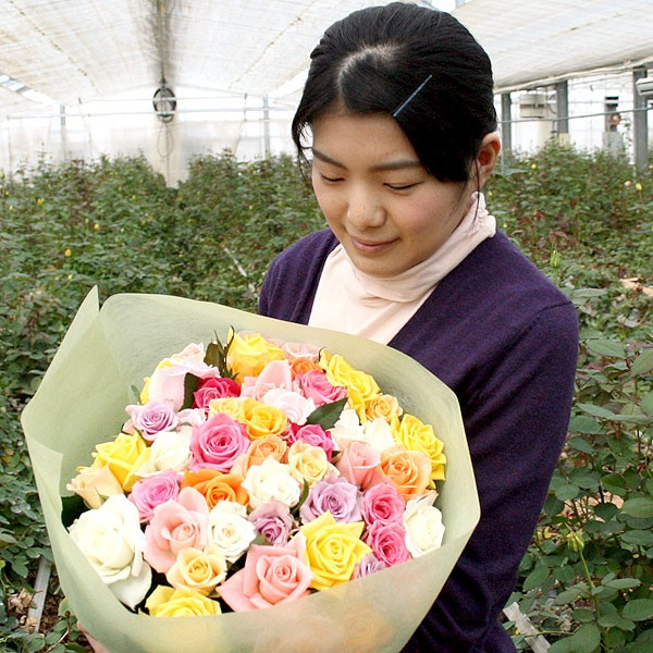 バラの産地寒河江は大沼バラ園 【バラの花束】30...