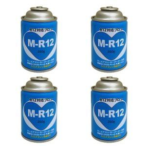 カーエアコン用クーラーガス R-12対応 M-R12 4本...