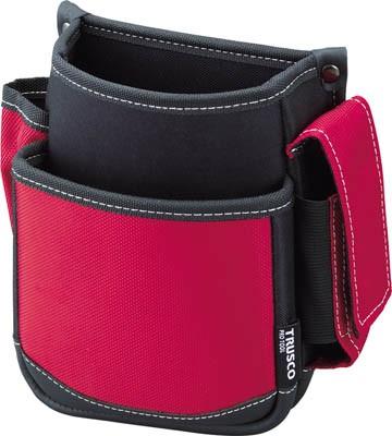 TRUSCO 腰袋(2段・携帯電話ホルダー付き...