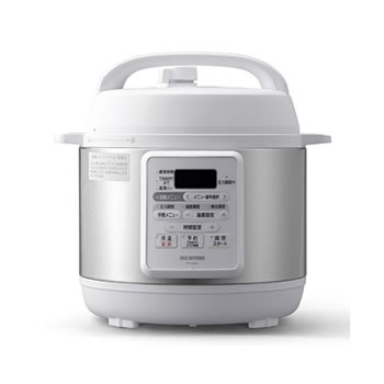 アイリスオーヤマ【IRIS】3.0L 電気圧力鍋 ホワイ...