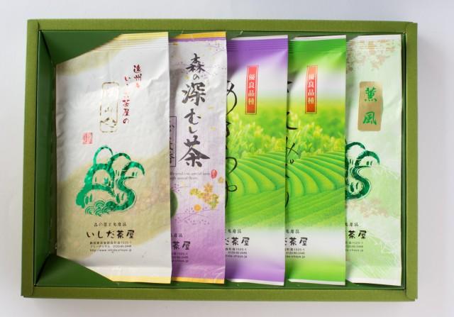 上煎茶5種セット100g袋入×5
