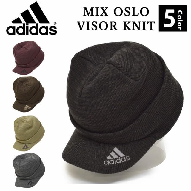ツバ付き ニット帽 アディダス adidas つば付き ロゴ ニットキャップ 帽子 ゴルフ メンズ レディース ランニング ブランド ADIDAS