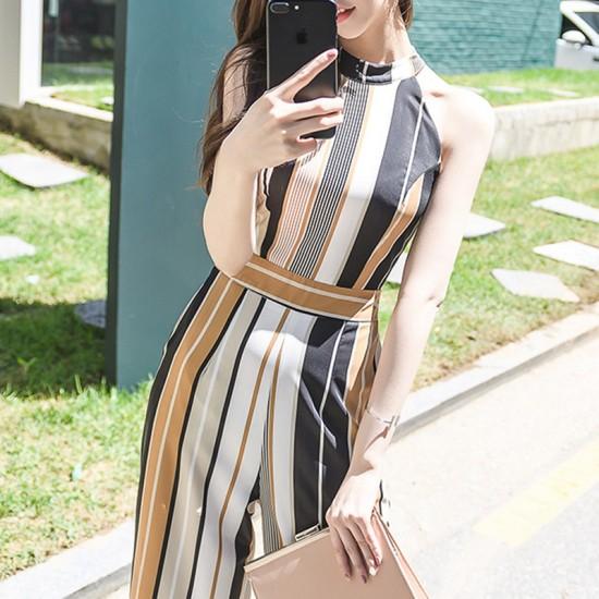 パンツドレス ドレス 30代 20代 半袖 ワイドパン...