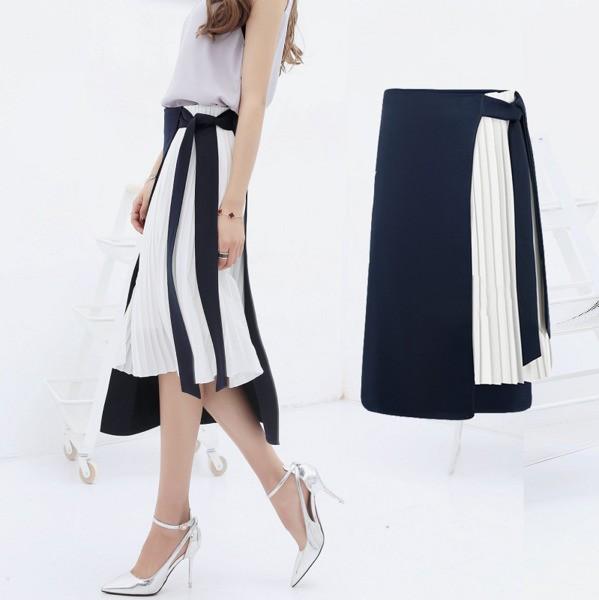 スカート プリーツスカート ロング 大きいサイズ ...