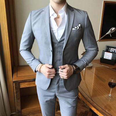 スーツセット ビジネススーツスリーピーススーツ...