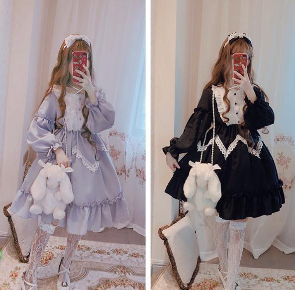 ゴスロリワンピース ドレス ロリィタ OP半袖/長袖...