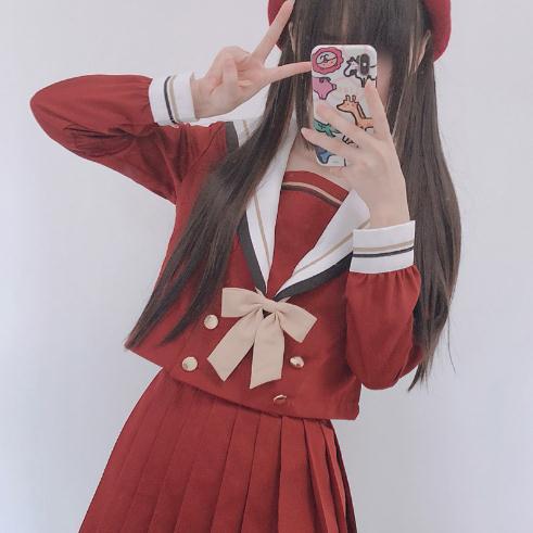 春秋コスプセーラー服長袖不良JK制服コスプレセー...