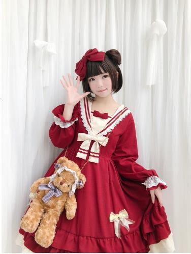 日系日常洋服 ゴスロリワンピース ドレス ロリィ...