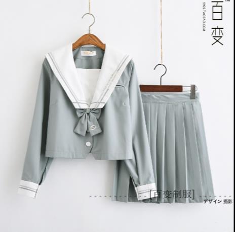 ジャスミン瑠璃刺繍♪新作コスプセーラー服長袖正...