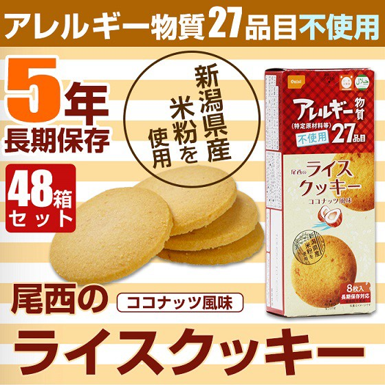 尾西のライスクッキー 8枚入 ココナッツ風味【48...