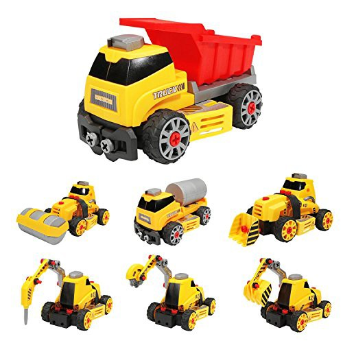 Flycreat DIY 車 おもちゃ 知育玩具 作業車 模型 ...