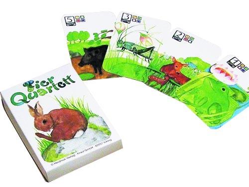 [メール便可] エバマリア・オットーハイドマン カードゲーム カルテット 動物 〜ドイツを代表する絵本作家、エバマリア・オットーハイド