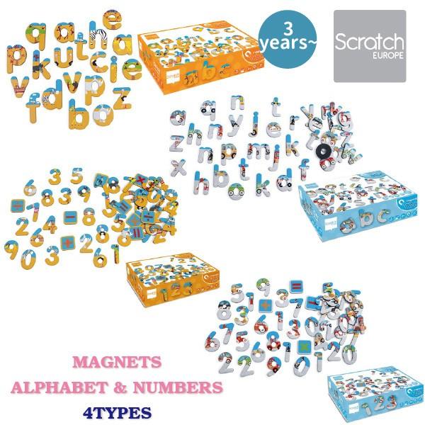 Scratch スクラッチ ABCマグネット ナンバーマグ...