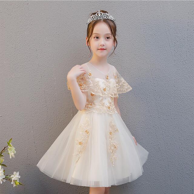 子供ドレス フォーマル ピアノ発表会 ドレス レー...