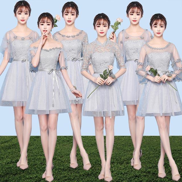 ウェディングドレス 結婚式ワンピース ブライズメ...