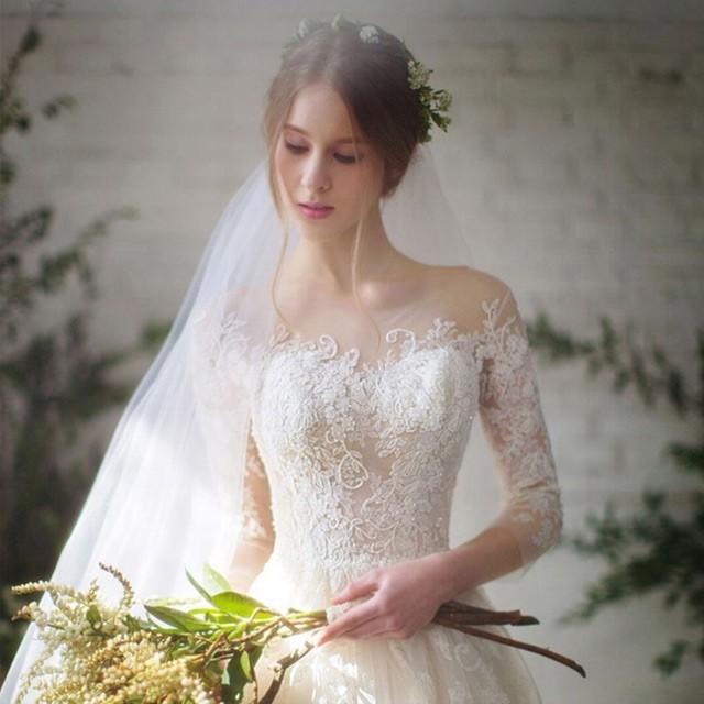ウェディングドレス Aライン 結婚式 二次会 ホワ...