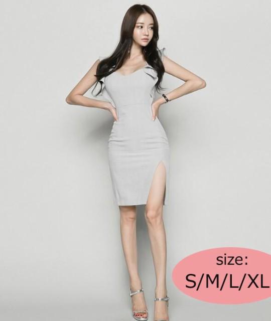 リル 女性風 クロスデザインドレス 韓国ファショ...