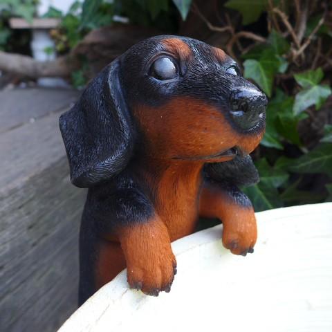 犬の置物 ダックス ハンギングドッグ 6145H ...