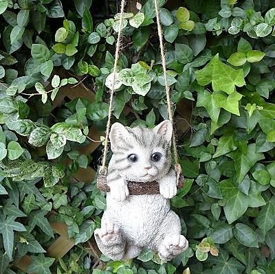 猫の置物 エンジョイブランコ シバトラ 6422H...