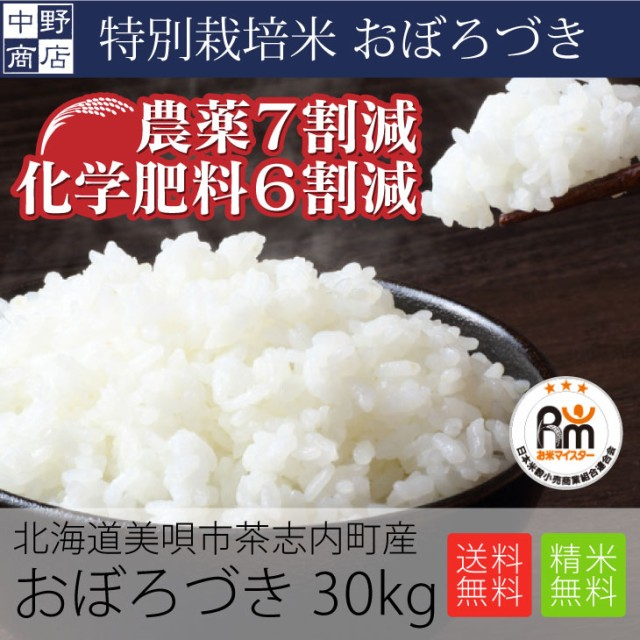 特別栽培米 減農薬栽培米 玄米 米 /北海道産 おぼ...