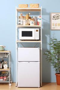 キッチン 収納 冷蔵庫上のスペースを有効活用でき...