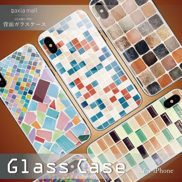 ガラスケース iPhone XS Max iPhone8 ケース 背面...