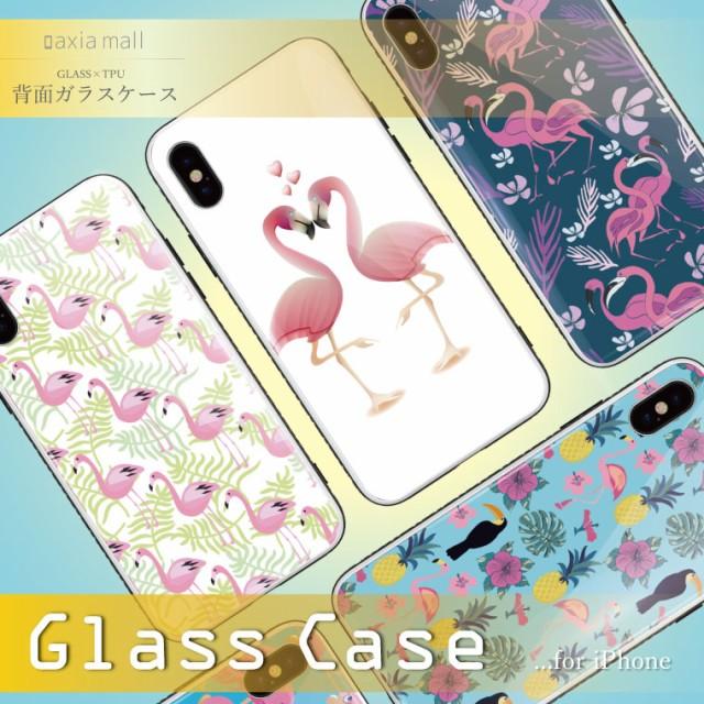 ガラスケース iPhone8 ケース 背面ガラス TPU ス...