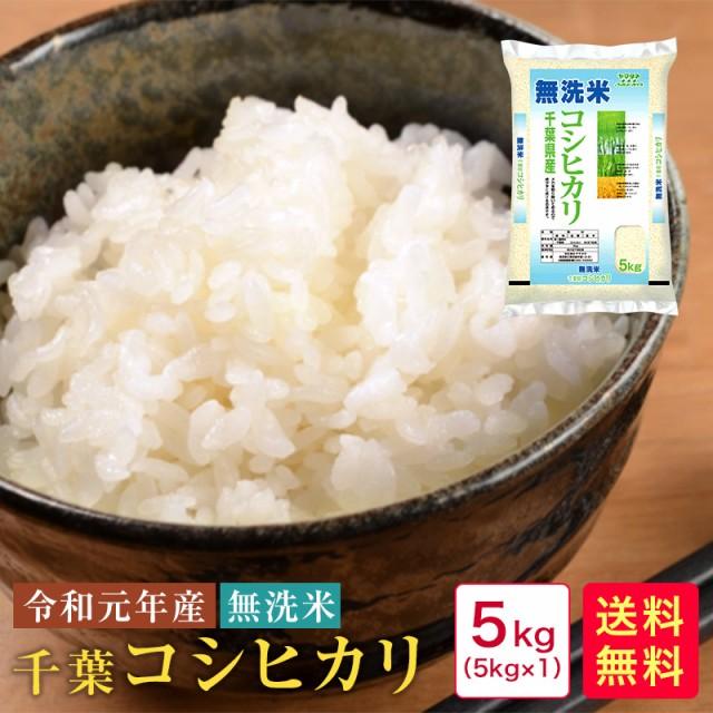 米 5kg 送料無料 無洗米 令和元年産 千葉コシヒカ...
