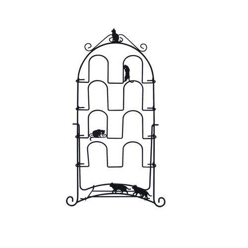 スリッパラック ネコ ブラック ACR-2855 黒猫 く...