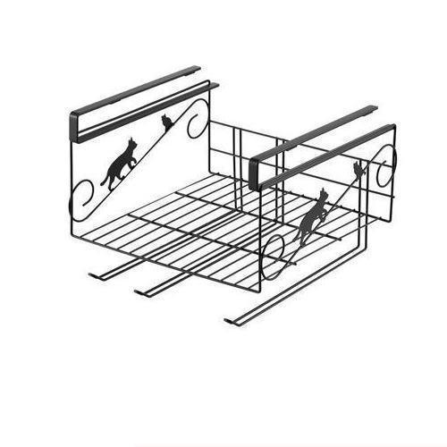 ヨシカワ クロネコの吊り戸棚ラック 5716ねこ ...