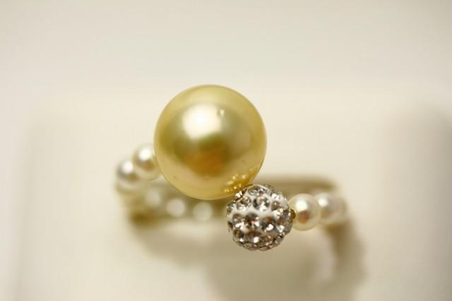 南洋白蝶真珠/あこや真珠パールリング【指輪】  ...