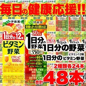 【伊藤園】野菜ジュース2種48本セット(「1日分の...
