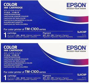 エプソン SJIC9P(TM-C100用) 純正インク 2セット ...