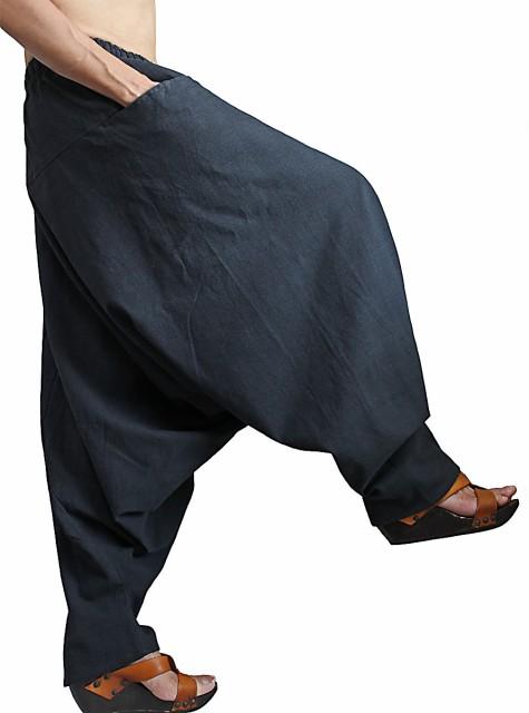 ジョムトン手織り綿のモンパンツ 墨黒(PFS-051-0...