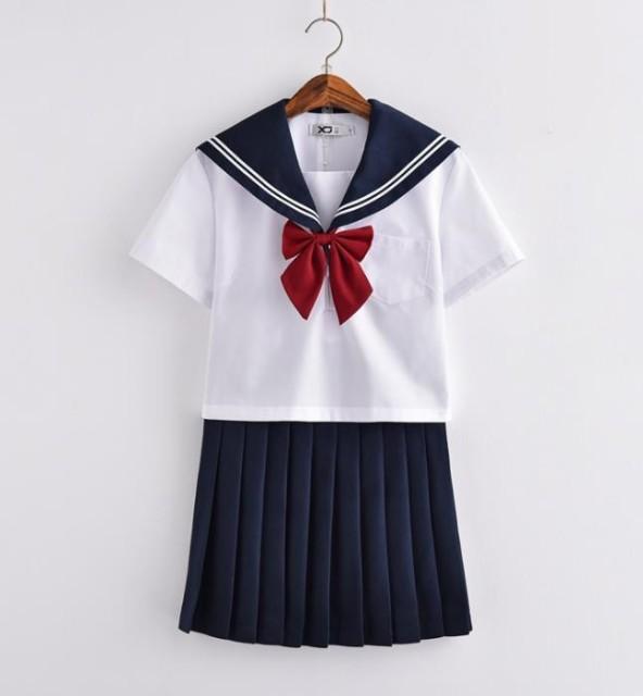 短袖 夏用 JK系 セーラー服 制服 学生 セット ...