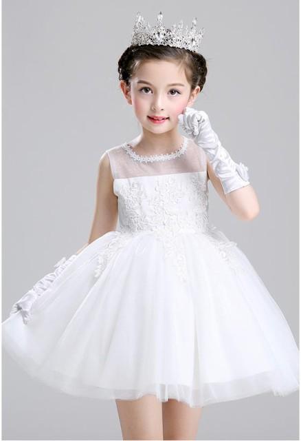 2色/短袖 子供 ドレス ワンピース カラー 花...