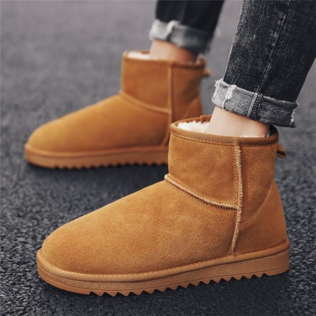 ムートンブーツ メンズ 靴 ボア ムートン フェイ...