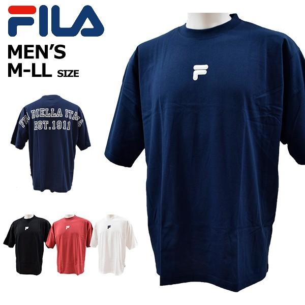 フィラ fila メンズ Tシャツ 半袖Tシャツ 大きめ ...