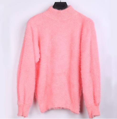 もこもこ袖のタートルネックのセーター