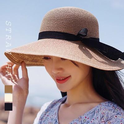 レディース 帽子 ストローハット ストロー帽子 カンカン帽 麦わら帽子 uvカット 日よけ帽子 紫外線対策 日焼け防止 女優帽(hat09005)