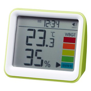 エコダネ 時計付置き型 デジタル温湿度計 警告ア...