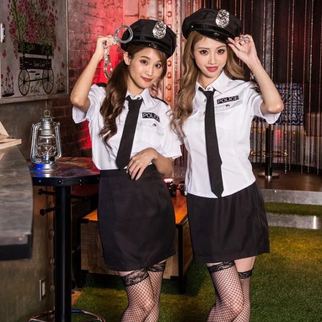 ハロウィン コスプレ 衣装ポリス 制服 衣装 コスチューム コス 警官 警察 婦警  ミニスカポリス 帽子 手錠 ネクタイ おすすめ こすぷれ