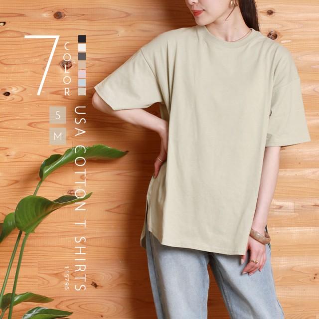 usaコットン tシャツ レディース 半袖 オーバーサ...