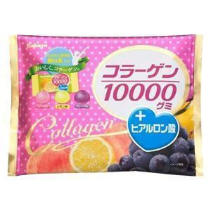 カバヤ コラーゲン10000グミ +ヒアルロン酸 お...