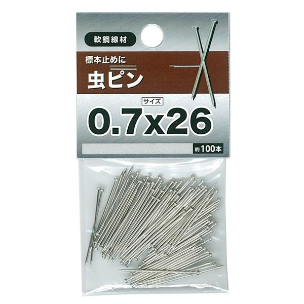 【メール便可】八幡ねじ 虫ピン 0.7×26 約100本...